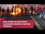Campesinos bloquean por varias horas la autopista México-Puebla
