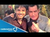 Eugenio Derbez trabaja con Charlie Sheen / Eugenio Derbez work with Charlie Sheen