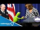 Michelle Obama y la Rana René conducen evento para niños   Michelle Obama and Rana Rene