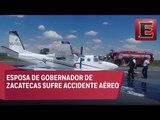 Falla avión en el que viajaba esposa del gobernador de Zacatecas