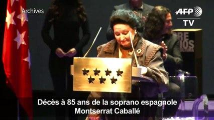 ARCHIVES: décès de la soprano espagnole Montserrat Caballé
