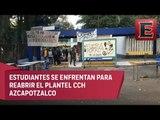 Estudiantes dan 'portazo' en CCH Azcapotzalco