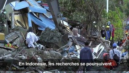 Séisme en Indonésie: les secours à la recherche de corps