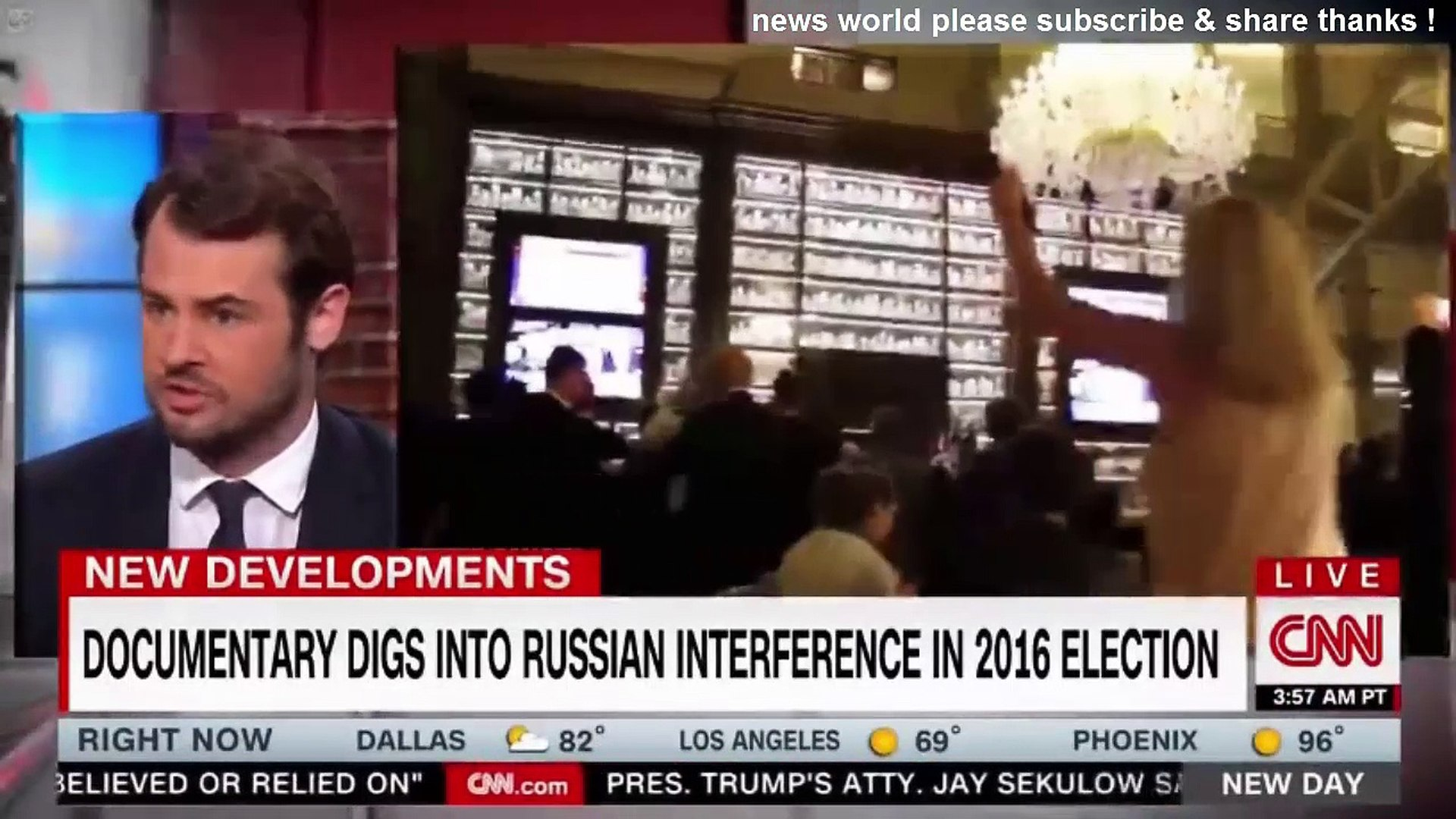 BREAKING NEWS DOCUMENTARY DIGS INTO RUSSIAN INTERFERENCE IN 2016 ELECTION. CNN NEWS