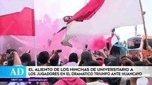 #AméricaDeportes Revive el aliento de los hinchas de Universitario de Deportes a los jugadores en el dramático triunfo ante Huancayo. Más sobre el tema AQUÍ ►