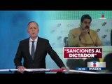 Estados Unidos congeló los bienes de Maduro en su país  | Noticias con Ciro Gómez Leyva