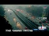 Fuertes lluvias con granizo azotan el poniente y sur de la CDMX   Noticias con Ciro Gómez Leyva