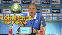 Conférence de presse AJ Auxerre - RC Lens (1-2) : Pablo  CORREA (AJA) - Philippe  MONTANIER (RCL) - 2018/2019