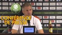 Conférence de presse FC Lorient - AS Nancy Lorraine (4-1) : Mickaël LANDREAU (FCL) - Didier THOLOT (ASNL) - 2018/2019