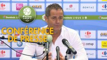 Conférence de presse Grenoble Foot 38 - Clermont Foot (1-0) : Philippe  HINSCHBERGER (GF38) - Pascal GASTIEN (CF63) - 2018/2019