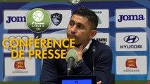 Conférence de presse Havre AC - AS Béziers (2-3) : Oswald TANCHOT (HAC) - Mathieu CHABERT (ASB) - 2018/2019