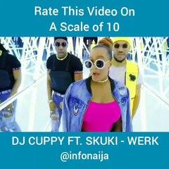 DJ  Cuppy visual video for 'Werk' featuring Skuki