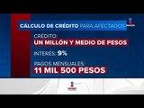 Habrá créditos de hasta de 2 millones de pesos para reconstrucción | Noticias con Ciro