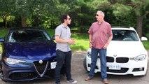 Car Comparison   Alfa Romeo Giulia vs BMW 330ix   Driving ca