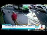 Microbusero atropella a ciclista en la Ciudad de Mexico | Noticias con Francisco Zea