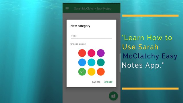 Sarah McClatchy Easy Notes Live Demo by Sarah McClatchy