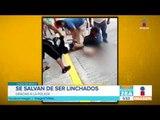 Dos presuntos ladrones salvan de ser linchados en la CDMX | Noticias con Francisco Zea