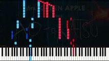 【ピアノ楽譜】青と夏-Mrs. GREEN APPLE(short_ver.)採譜