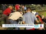 Aficionados de beisbol se agarran a golpes por insultos racistas a latinos   Noticias con Zea