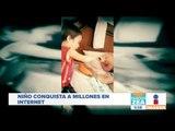 Tierna imagen de niño dándole de comer a su abuelito   Noticias con Francisco Zea