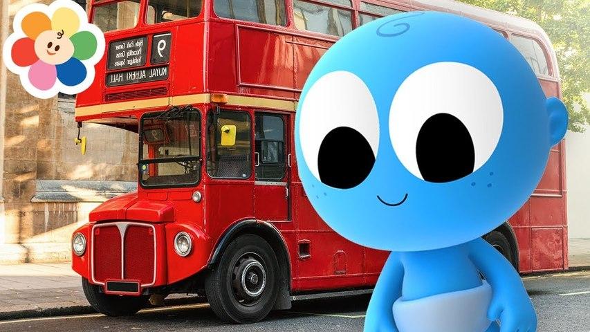 Veículos em Cores Para Crianças   Ônibus Vermelho e Ambulância Com Goo Goo   Aprender Com BabyFirst