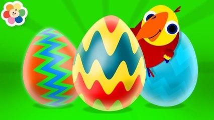 Huevo Sorpresa de Colores  | Nuevas Palabras con Larry  | Aprender Animales Para Niños | BabyFirst