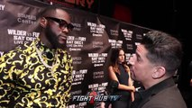 """DEONTAY WILDER """"JOSHUA CAN STICK THAT APRIL DATE UP HIS...FURY SAVED HIS COUNTRY, IM GONNA KO HIM"""""""