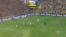 Bundesliga - Le coup franc de la victoire d'Alcacer pour Dortmund à la 96e minute !