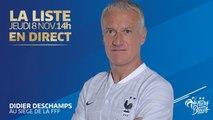 Jeudi 8, l'annonce de liste de Didier Deschamps (14h00), Équipe de France I FFF 2018