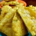 quick banana snack - banana bhaji recipe - raw banana puri recipe