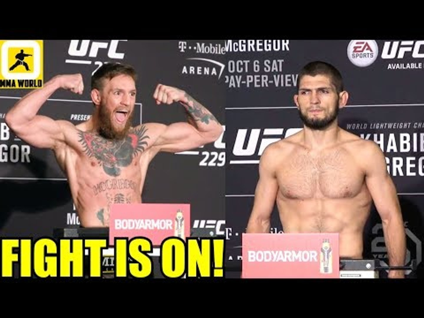 IT'S OFFICIAL! Khabib and Conor McGregor both make weight for UFC 229 Main Event,UFC 229 W-ins