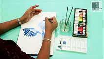 How to Paint a Bird using Watercolors | Bird Painting for Beginners | The Art Academy