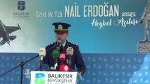 Şehit Hava Pilot Yüzbaşı Nail Erdoğan'ın Heykeli Açıldı