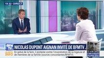"""""""Je pense que l'échec d'Emmanuel Macron, c'est l'échec de l'apparence """" estime Nicolas Dupont-Aignan"""