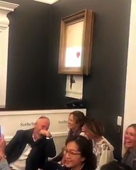 Sotheby's 'Banksy-ed' As Painting 'Self-Destructs' Live At Auction - TrendingTODAYvideos