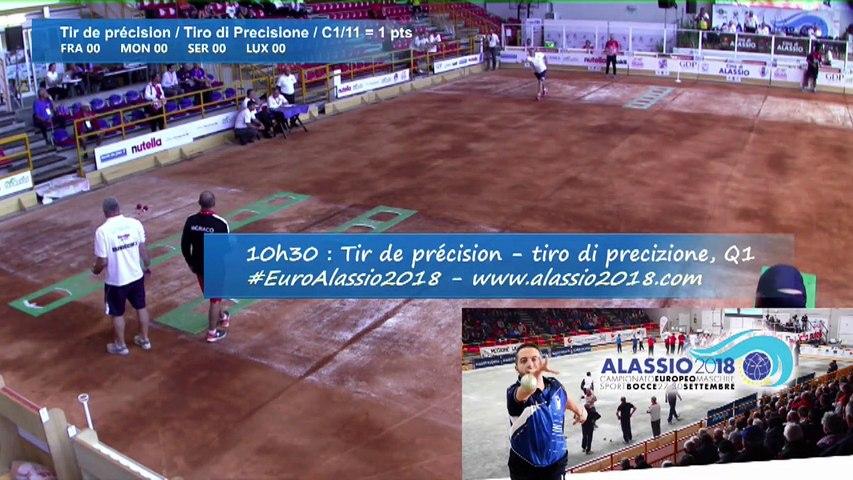 Premier tour de qualification, tir de précision, Euro masculin, Alassio 2018