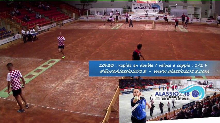 Demi-finales, tir rapide en double, Euro masculin, Alassio 2018