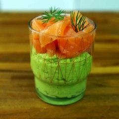 Des petites verrines de saumon, rapides et chic !La recette :