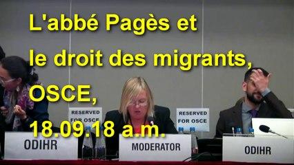 L'abbé Pagès et le droit des #migrants à l'OSCE le 18.09.18 am