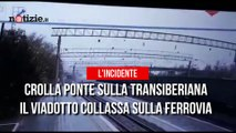 Crolla un viadotto sulla Transiberiana: ferito gravemente autotrasportatore  | Notizie.it