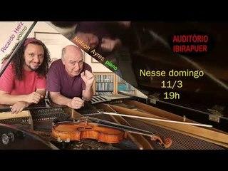 Domingo agora, às 19hs no Auditório do Ibirapuera!