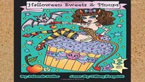 Popular Halloween Sweets and Pinups: Cupcakes, candy, sweets and pinups. Halloween Coloring Book