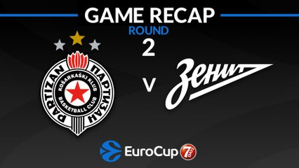 7Days EuroCup Highlights Regular Season, Round 2: Partizan 89-82 Zenit