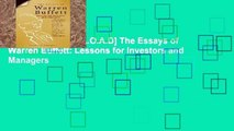 F.R.E.E [D.O.W.N.L.O.A.D] The Essays of Warren Buffett: Lessons for Investors and Managers