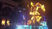 REAL TRANSFORMING Optimus Prime and GIANT Bumblebee at Parade in Universal Studios Osaka, Japan 2018