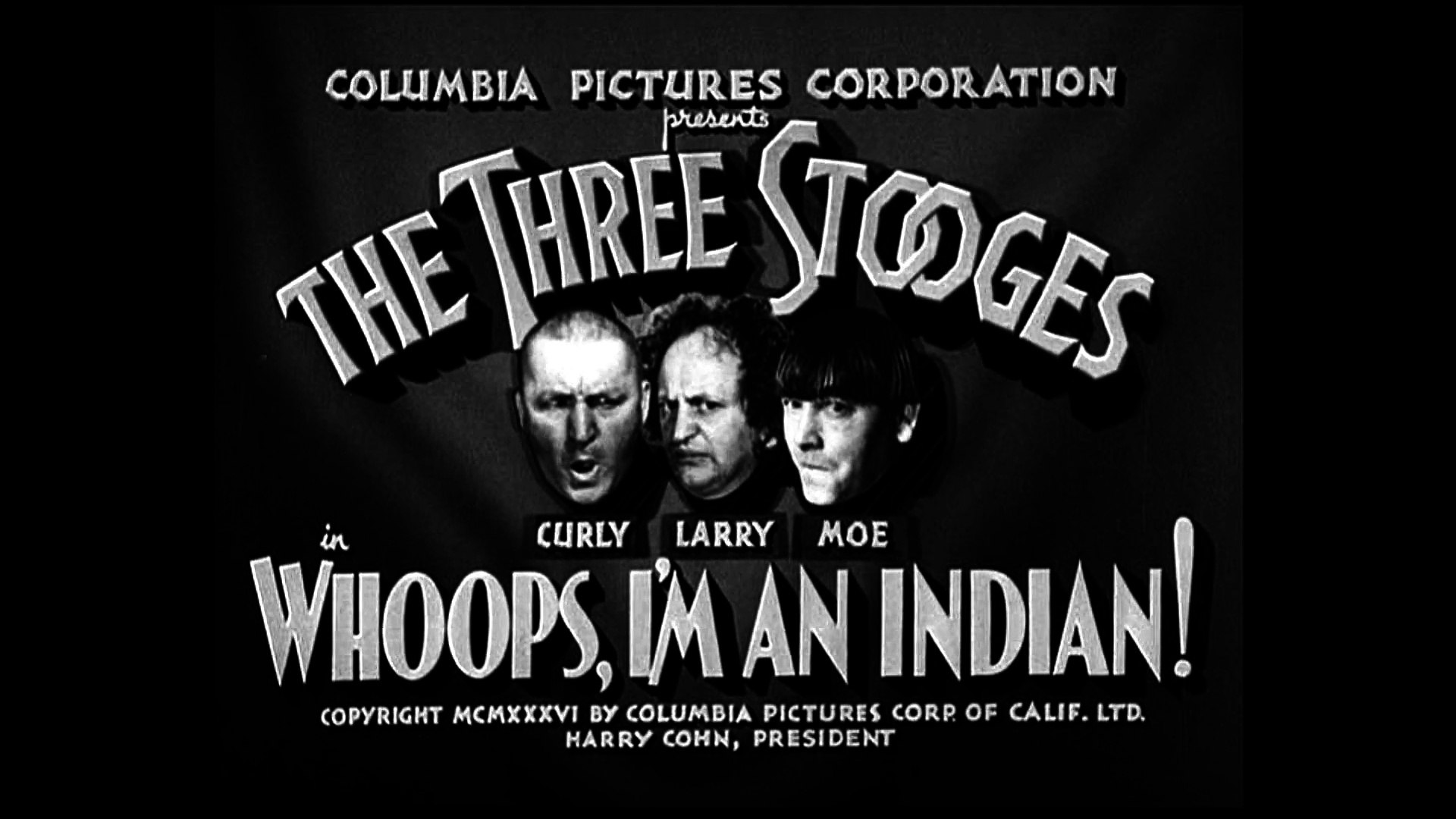 Image result for The Three Stooges: Whoops, I'm An Indian! (1936)
