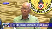 Sec. Lorenzana, umalma sa naging pahayag ni ex-Sec. Taguiwalo
