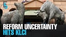 EVENING 5: KLCI stumbles over reform uncertainty