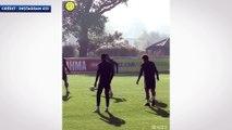 Le double petit pont dévastateur de Neymar sur Filipe Luis
