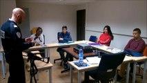 Oyonnax : collégiens en visite au commissariat de la Police nationale